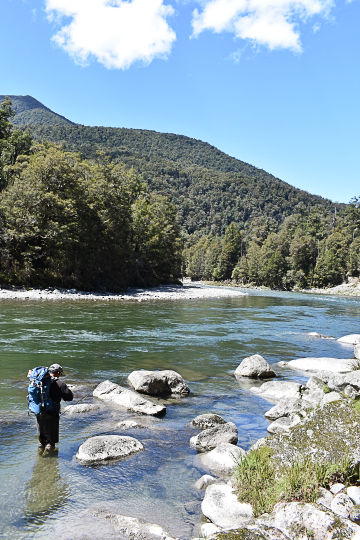 Flyfishing in the South Island of New Zealand